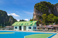 Elementary school in Koh Panyee village Royalty Free Stock Image