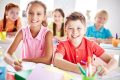 Elementary school learners Royalty Free Stock Photos