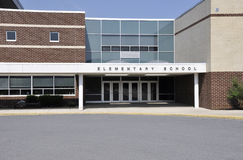 Elementary school in Pennsylvania. Building entrance for an elementary school in Saucon Valley, Pennsylvania stock image