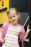 Elementary School Pupil Boarding Bus Royalty Free Stock Photography