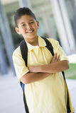 Elementary school pupil outside Stock Images