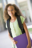 Elementary school pupil outside Royalty Free Stock Images
