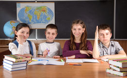 Elementary school pupils Royalty Free Stock Photography