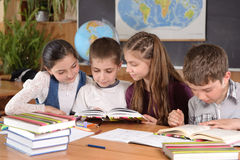 Elementary school pupils Stock Image