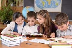 Elementary school pupils stock image