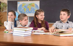 Elementary school pupils royalty free stock photos