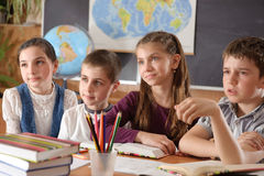 Elementary school pupils stock photos