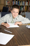 Elementary school students studying Royalty Free Stock Images