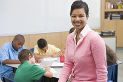 Elementary school teacher Stock Images