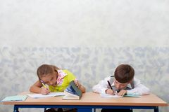 Elementary school. Test lesson Royalty Free Stock Photography