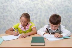 Elementary school. Test lesson Royalty Free Stock Images