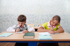 Elementary school. Test lesson Stock Photos