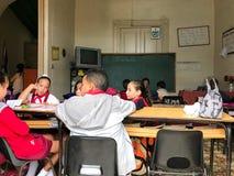 Elementary School - Trinidad, Cuba. Trinidad, Cuba - Jan 12, 2017: Elementary school students in Trinidad, Cuba Royalty Free Stock Photography