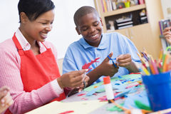 Elementary schoolart class Royalty Free Stock Image