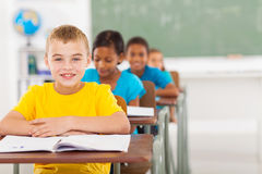 Elementary schoolboy classmates Royalty Free Stock Photos