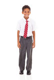 Elementary schoolboy isolated Stock Photography