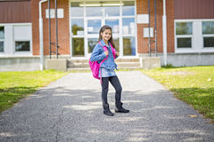 Elementary student going back to school Royalty Free Stock Photos