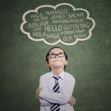 Elementary student learn multilanguage 2 Royalty Free Stock Photography