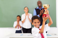 Elementary student trophy Royalty Free Stock Photography