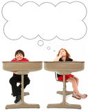 Elementary Students in Desk Royalty Free Stock Images