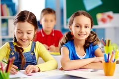 Elementary students Stock Photography