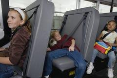 Elementary Students On School Bus Stock Image