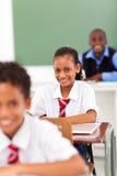 Elementary students teacher stock photography