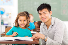 Elementary teacher student Royalty Free Stock Photography
