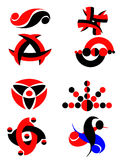 elementdiagramset stock illustrationer