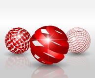 Elemente 3D für Druck und Netz Stockfoto