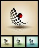 Elemente 3D für Druck und Netz Stockfotos