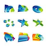 Elemente der Auslegung-3D Lizenzfreie Stockbilder