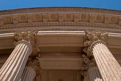 Elemente der Kolonnade und der Decke Kasan-Kathedrale in St Petersburg, Russland lizenzfreies stockfoto