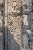 Elemente des Steins schnitzend mit Blumenverzierung Lizenzfreie Stockfotos