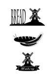 Elemente des Symbols des Brotes für Ihr Design Lizenzfreies Stockfoto