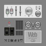 Elemente des Web-UI konzipieren Grau. Stockfotos