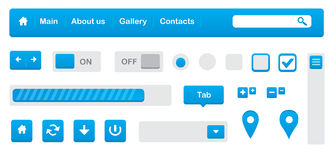 Elemente des Webs UI Lizenzfreie Stockbilder