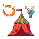Elemente des Zirkuses Lizenzfreie Abbildung