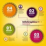 Elemente für infographics mit farbigen Kreisen Lizenzfreies Stockfoto