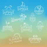 Elemente für kalligraphische Designe des Sommers Vektor stockbild