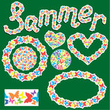 Elemente für Sommer oder Frühlingsdesign Lizenzfreie Stockfotografie