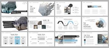 Elemente für und Darstellungsschablonen Lizenzfreie Stockfotos