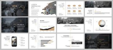 Elemente für und Darstellungsschablonen Lizenzfreie Stockfotografie
