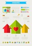 Elemente Real Estates Infographic Lizenzfreie Stockbilder