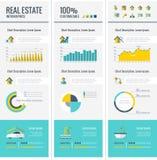 Elemente Real Estates Infographic Stockbild