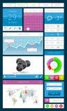 Elemente Ui, des infographics und des Netzes einschließlich flaches d Lizenzfreie Stockbilder