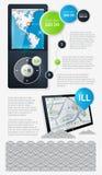 Elemente von Infographics Stockfotografie