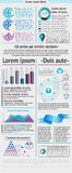 Elemente von infographics Stockfoto