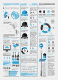 Elemente von infographics mit einer Karte Stockbilder