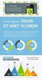 Elemente von Infographics mit Knöpfen und Menüs Lizenzfreie Stockfotografie